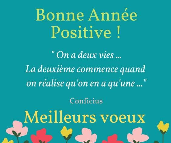Carte bonne annee positive message meilleurs voeux positif